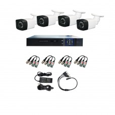 /KIT-4BP720ECOBD:  KIT DE CCTV TODO EN UNO DE 4 CAMARAS BALA 720P 24 LED CON DVR TRIBRIDA 720P Y DISCO 500GB
