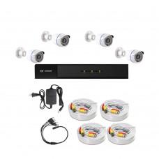 /KIT-4BP1080:  KIT DE CCTV TODO EN UNO DE 4 CAMARAS BALA METALICAS 1080P 36 LED CON XVR PENTAHÍBRIDA 1080P