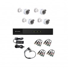 /KIT-4BP1080B:  KIT DE CCTV TODO EN UNO DE 4 CAMARAS BALA METALICAS 1080P 36 LED CON XVR PENTAHÍBRIDA 1080P