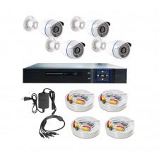 /KIT-4BP720:  KIT DE CCTV TODO EN UNO DE 4 CAMARAS BALA METALICAS 720P 36 LED CON DVR TRIBRIDA 720P