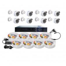 /KIT-8BM720ECO:  KIT DE CCTV TODO EN UNO DE 8 CAMARAS BALA METALICAS 720P 36 LED CON DVR TRIBRIDA 720P