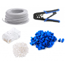 KIT-CWCPB100M:  CONNECTWORKS: KIT-CWCPB100M: KIT DE PONCHADORA DE CABLE UTP, 100 MTS CABLE UTP CCA CAT5E, 100 PLUGS Y 100 BOTAS PARA CABLE